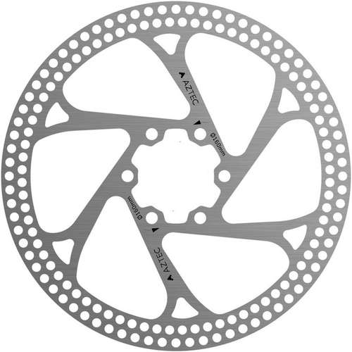 Stainless steel fixed disc rotor with circular cut outs - 140 mm