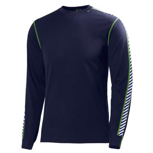 Men's Dry Stripe Long Sleeve Crew Base Layer
