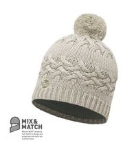 Knitted Polar Buff Bobble Hat