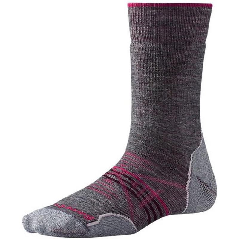 HIKING Socks Women's PhD Outdoor Med Crew Medium Grey