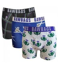 Men's Bawbags Triple Pack Scottish Boxers