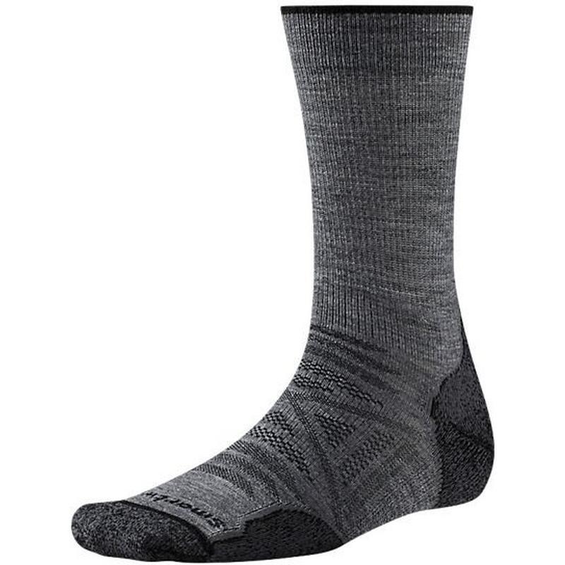 HIKING Socks Men's PhD Outdoor Light Crew Charcoal