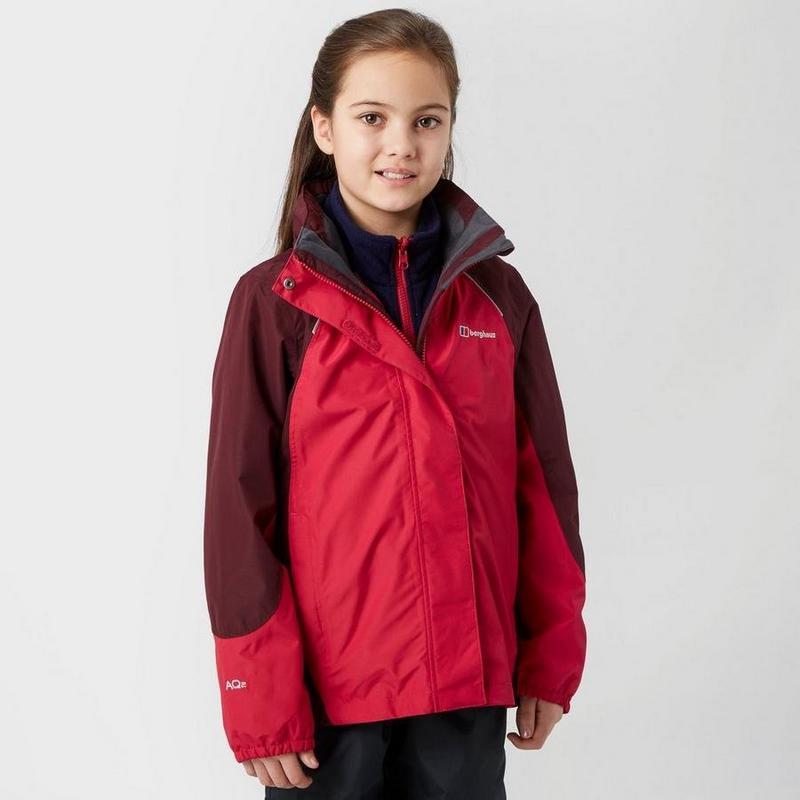 Kids' Berghaus Carrock 3 In 1 Waterproof Jacket - Red