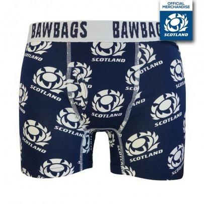 Bawbags Men's Original Scotland Rugby Boxers