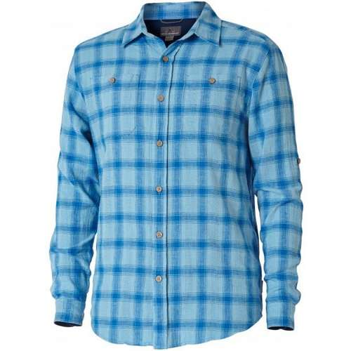 Men's Coolmesh Linen Plaid Long Sleeve Shirt