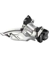 FD-M785 XT 10-speed double front derailleur, top swing, dual-pull