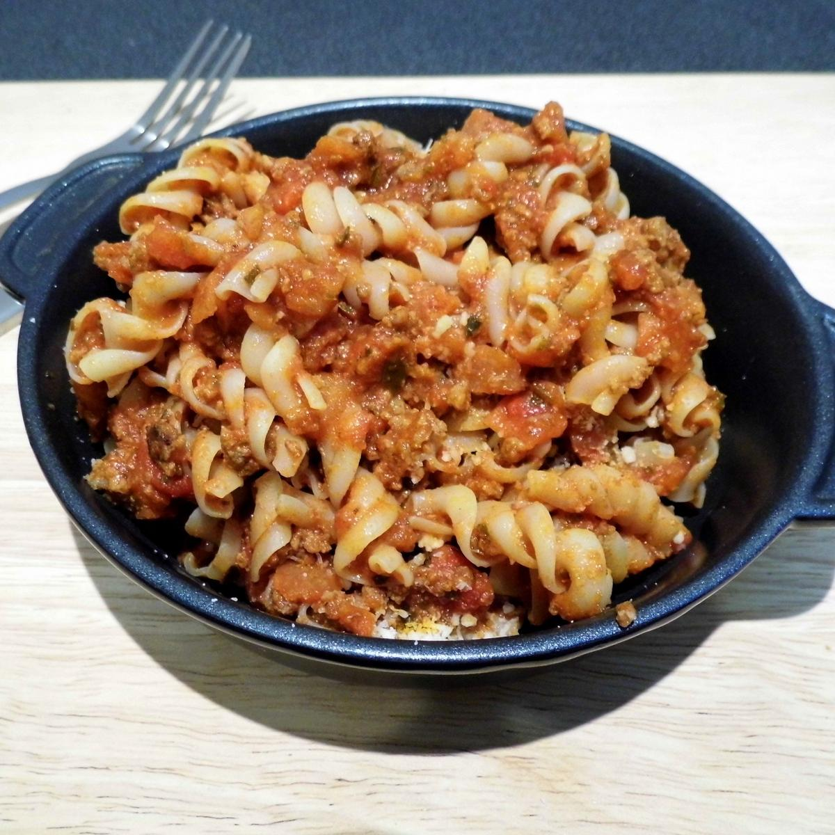 Summit To Eat Camping Meal: Pasta Bolognaise