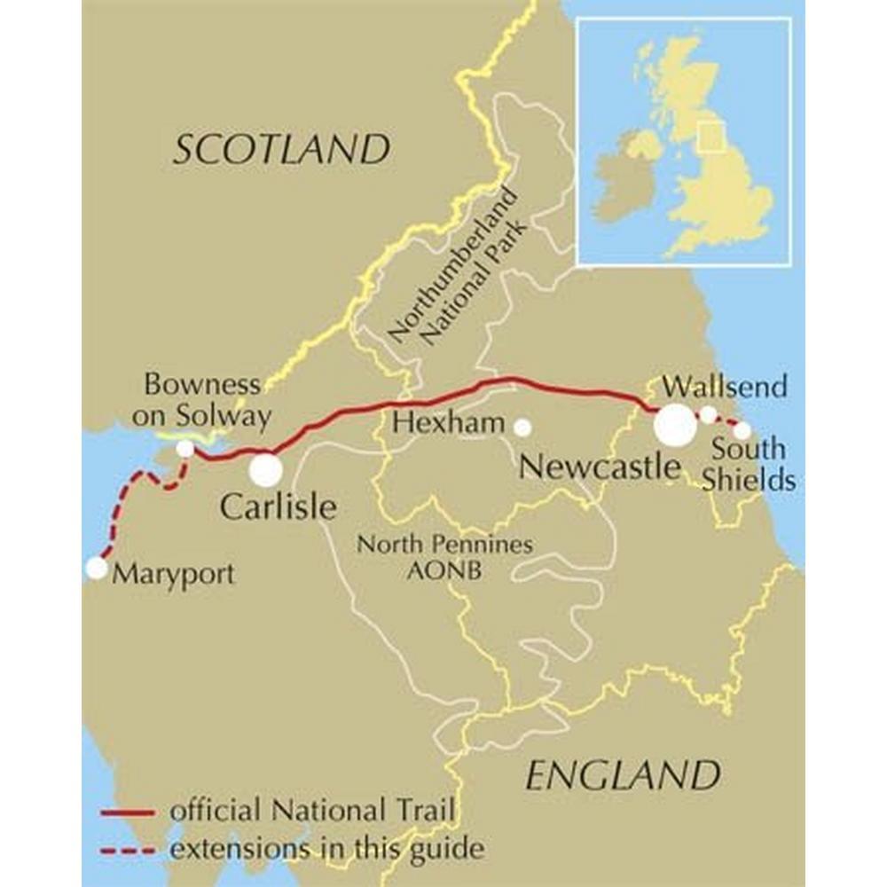 Cicerone Guide Book: Walking Hadrian's Wall Path: Mark Richards