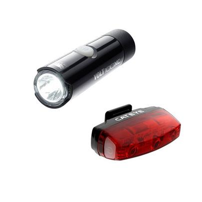 Cateye Volt 100 XC & Rapid Micro Front and Rear Bike Light Set