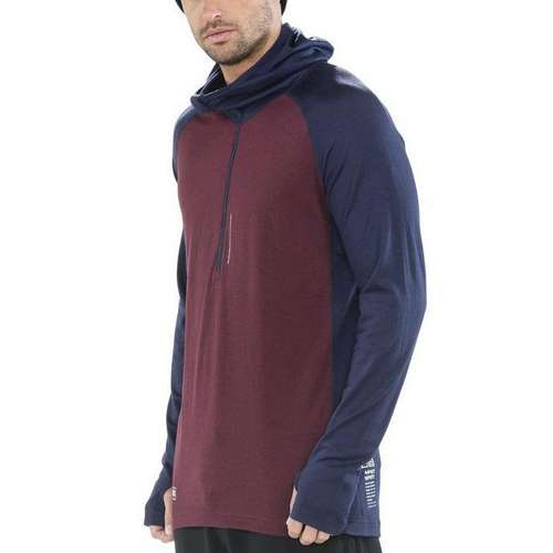 Men's Checklist Hood Long Sleeve Top