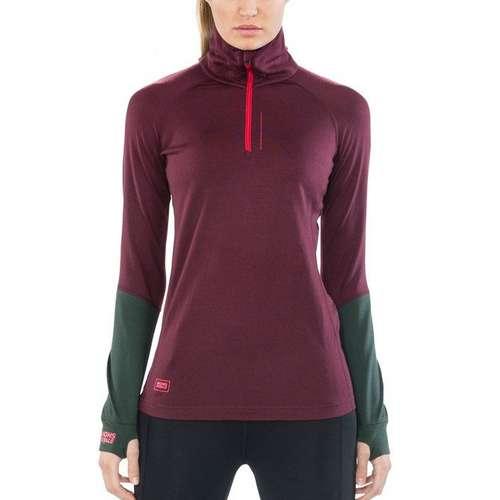 Women's Checklist Long Sleeve 1/4 Zip Top