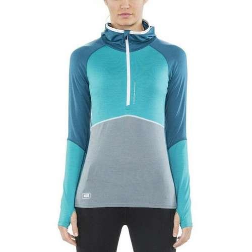 Women's Checklist Hooded Long Sleeve Top