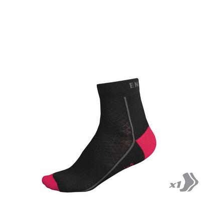 Endura Women's Baabaa Merino Winter Sock - Black/Pink
