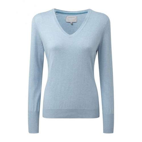 Women's Cotton/Cashmere V Neck Jumper