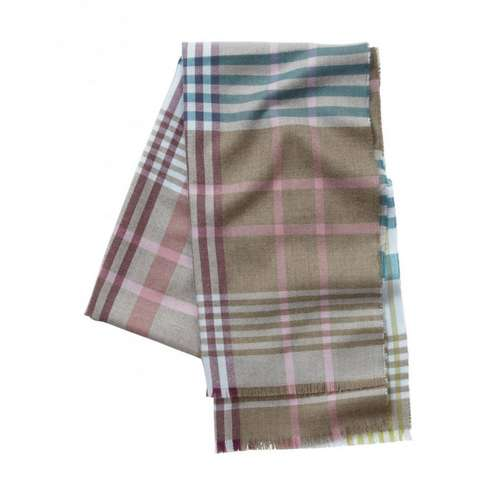 Women's Merino Check Scarf