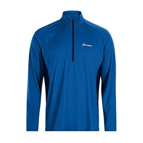 Men's Long Sleeve Zip Neck Tech T-Shirt