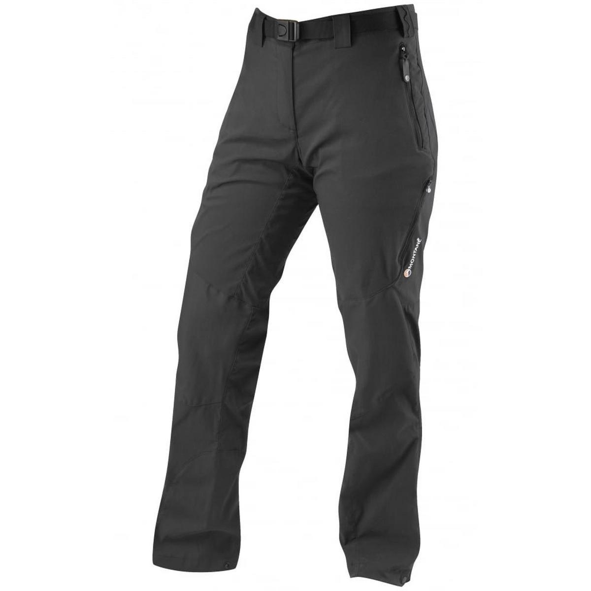 Montane Pants Women's Terra Ridge SHORT Leg Trousers Black
