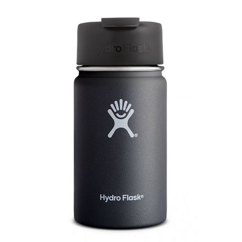 d6ecbfca08 Black Hydro Flask 12oz Wide Mouth Insulated Coffee Cup