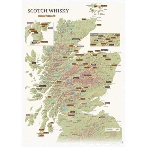 Whisky Distillery Scratch Map A3