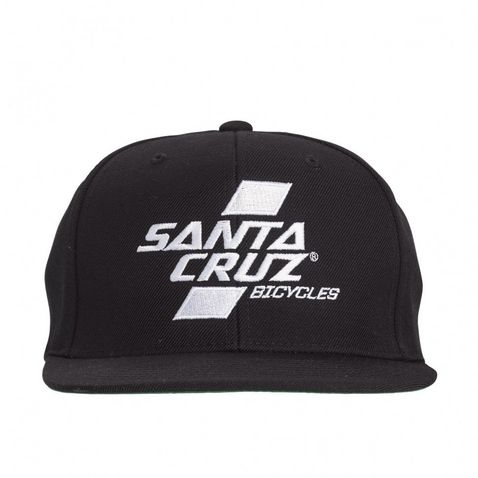 Black Santa Cruz Parallel Snapback Hat a551b2d895b17