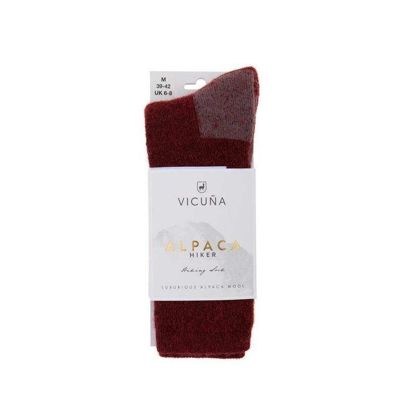 Unisex Vicuna Alpaca Hiker Sock - Red
