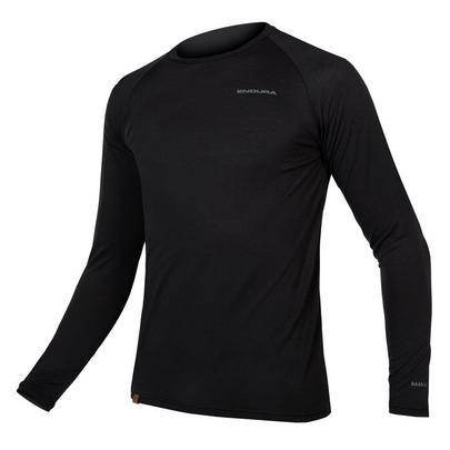 Endura Men's Baabaa Blend Long Sleeve Baselayer - Black