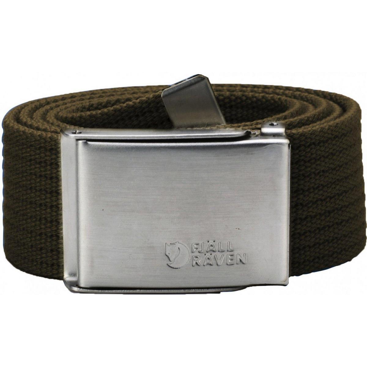 Fjallraven Men's Canvas Belt - Dark Olive