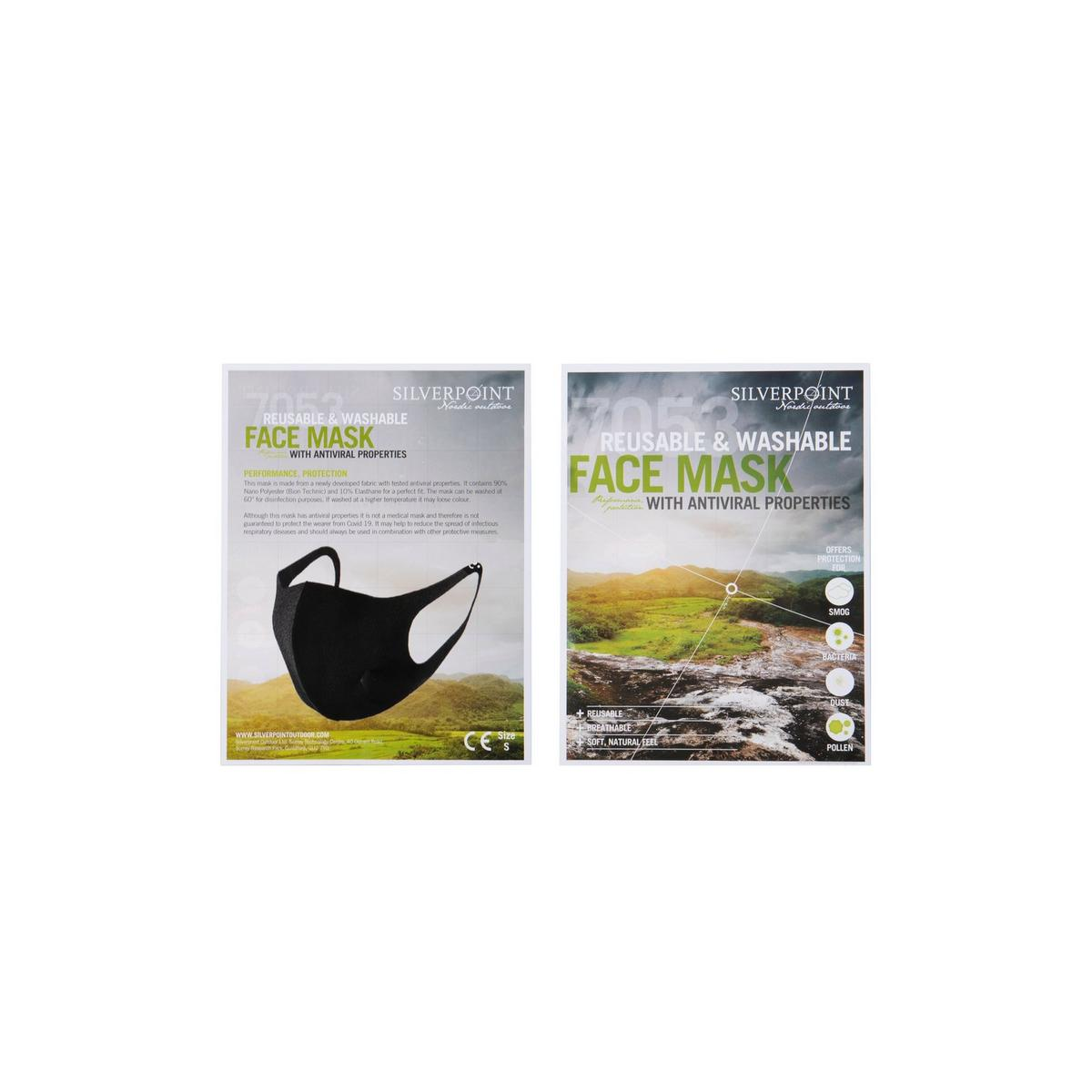 Silverpoint Unisex Silverpoint Antiviral Face Mask - Black