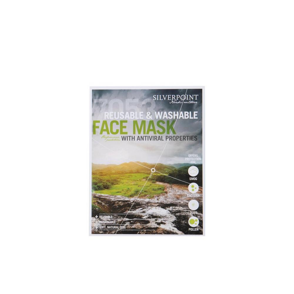 Silverpoint Unisex Silverpoint Antiviral Face Mask - Blue