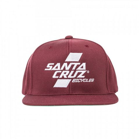 Red Santa Cruz Parallel Snap Back Hat 84ab787a5e56f