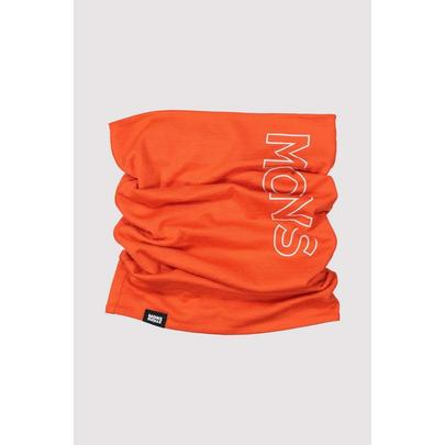 Mons Royale Double Up Neckwarmer - 2020 - Orange Smash