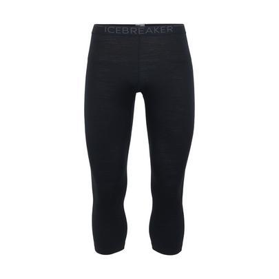 Icebreaker Men's 200 Oasis 3/4 Thermal Leggings - Black