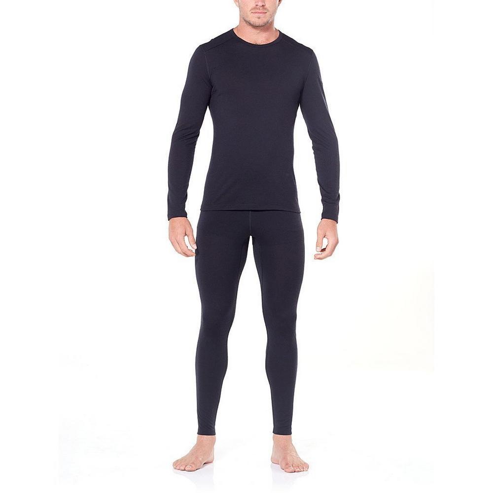 Icebreaker BASE LAYER Pants Men's 200 Oasis Leggings Black