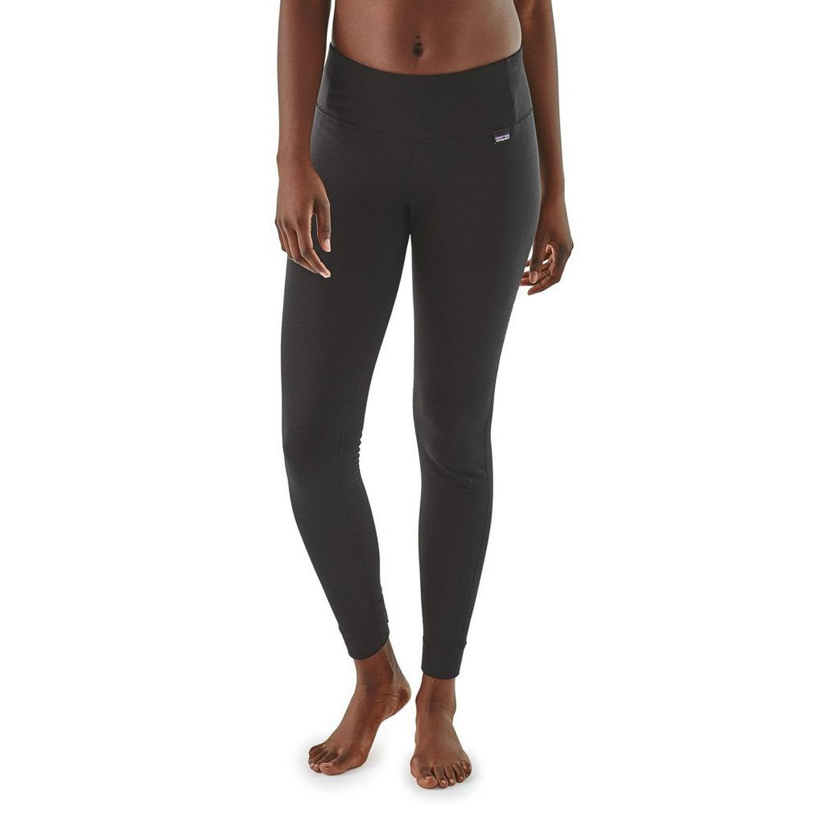 Patagonia BASE LAYER Pants Women's Capilene Thermal Weight Bottoms Black