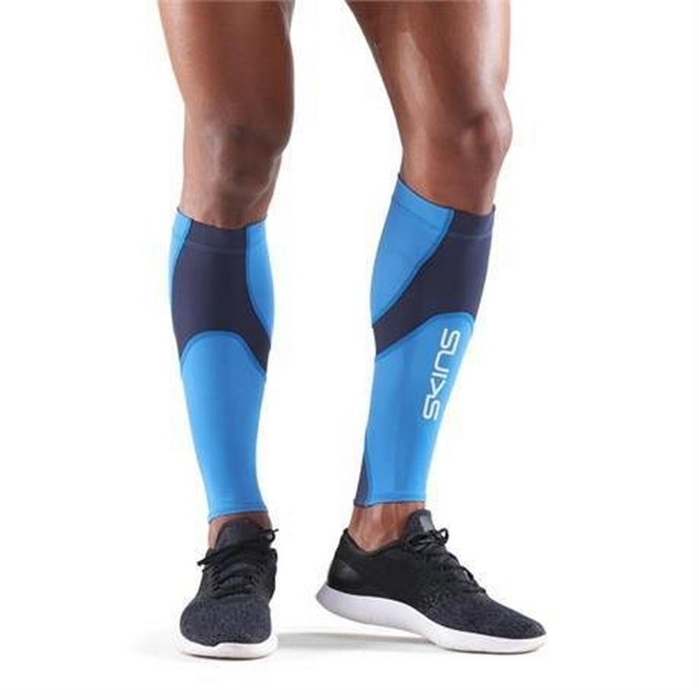 Skins Compression BASELAYER Unisex Calf Tights MX Bright Blue/Navy Blue