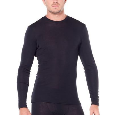 Icebreaker Men's 175 Everyday Long Sleeve Crewe - Black