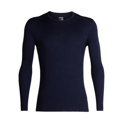 Icebreaker Men's 200 Oasis Long Sleeve Crewe - Navy