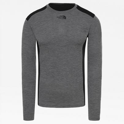 The North Face Men's Easy Long Sleeve Crew Neck - Grey