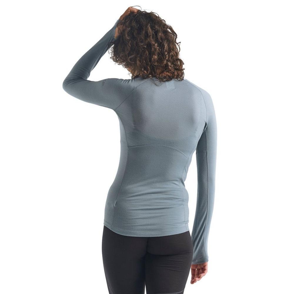 Icebreaker Women's 150 Zone Long Sleeved Crewe - Blue