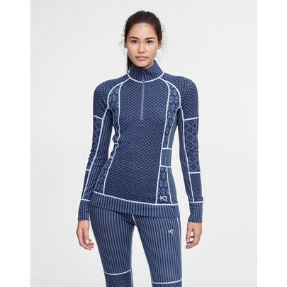 Kari Traa Women's Smekker Half Zip - Blue
