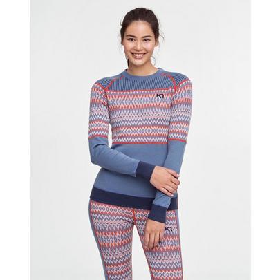 Kari Traa Women's Silja Wool Long Sleeve Top - Blue