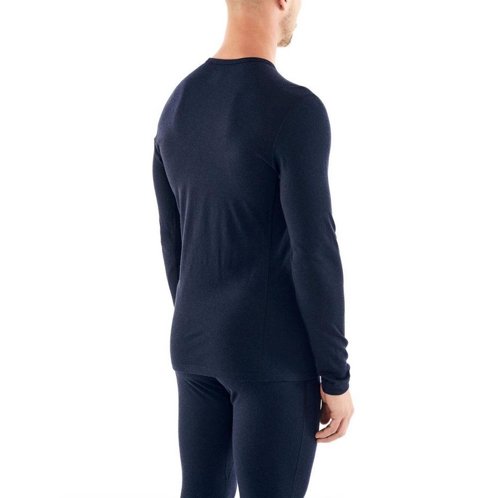 Icebreaker Men's Merino 200 Oasis Long Sleeve Crewe Thermal Top Fox Jump - Midnight Navy