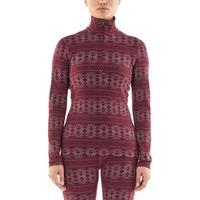 Women's Merino 250 Vertex Long Sleeve Half Zip Thermal Top - Redwood
