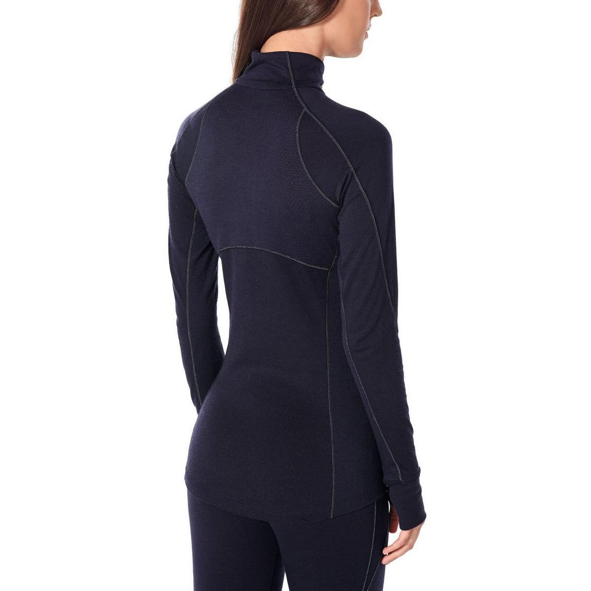 Icebreaker Women's 260 Zone Long Sleeve Half Zip Thermal Top - Nightfall