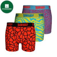 Men's Cotton Boxers 3 Pack Techno Safari