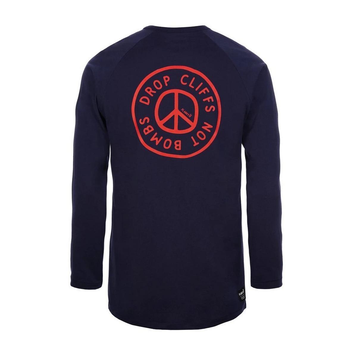 Planks Peace Long Sleeve T-Shirt - Dark Navy