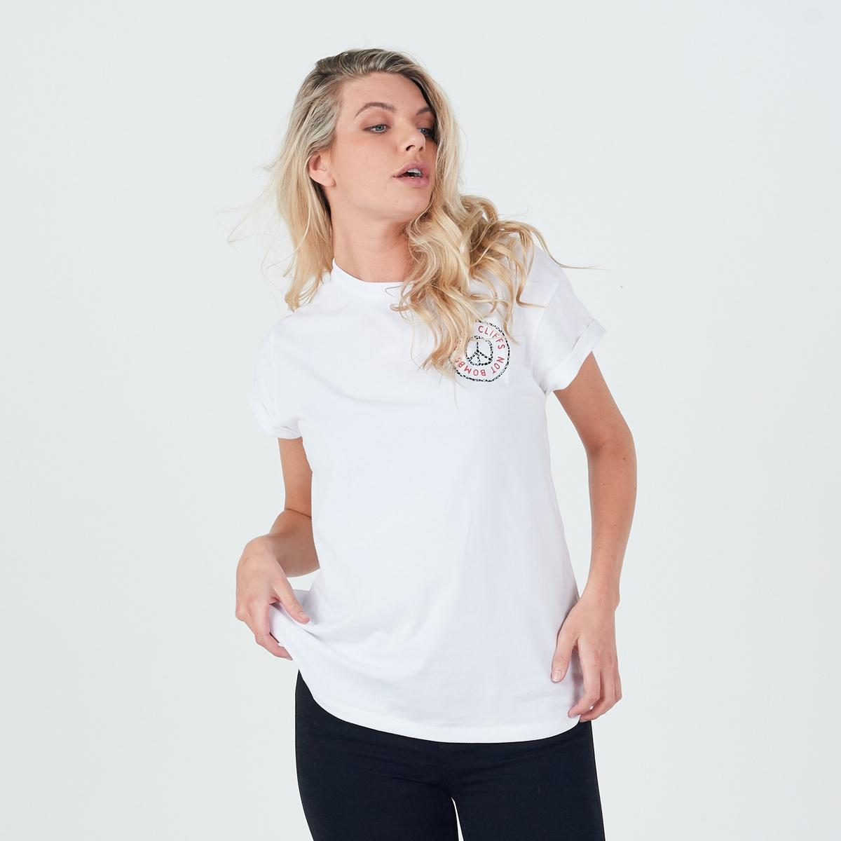 Planks Women's Peace Relaxed SS T-Shirt - White