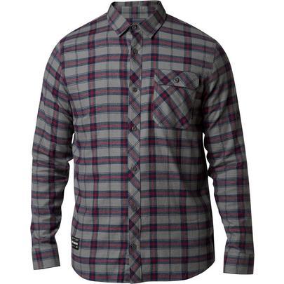 Fox Men's Boedi Long Sleeve Flannel - Pewter