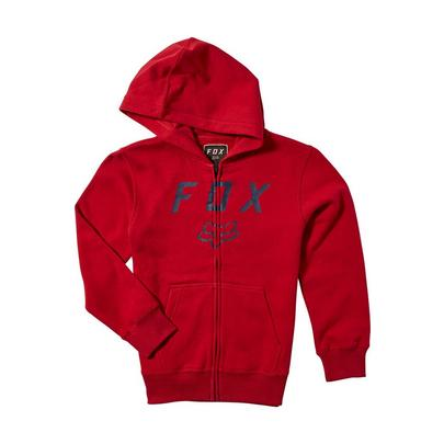 Fox Youth Legacy Moth Zip Fleece - Red