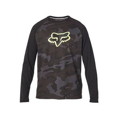 Fox Tournament Camo L/S Tech Tee - Black